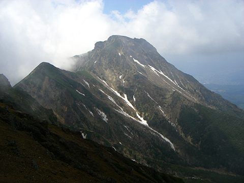 赤岳主稜線から阿弥陀岳