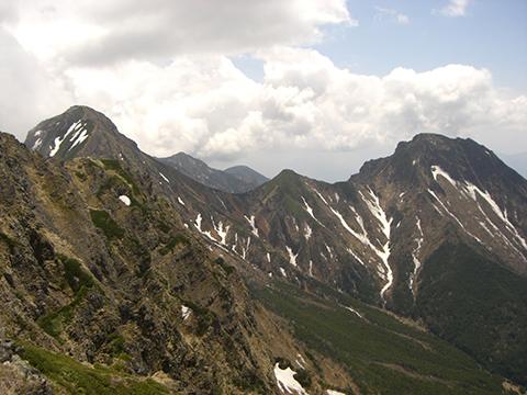 赤岳~阿弥陀岳稜線